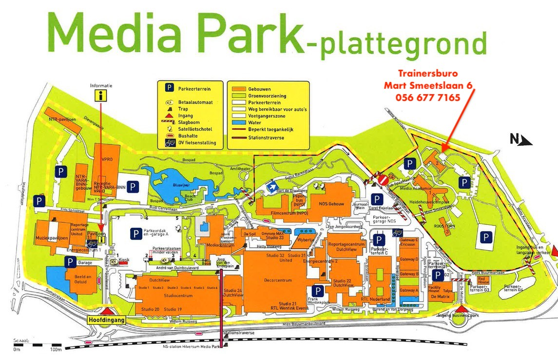 locatie Trainersburo Mediapark